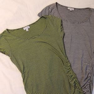 Two maternity tops great for layering